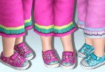 Детские ботинки двух цветов для Симс 3