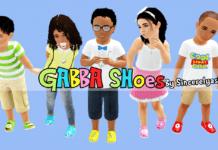 Цветная детская обувь для Sims 3