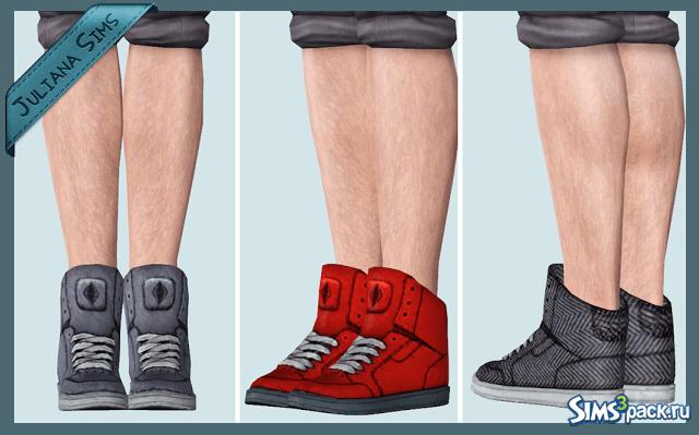Кроссовки для мужчин и женщин от Juliana для Симс 3