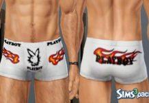 Мужские трусы Playboy для Симс 3