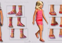 Набор детской обуви для Симс 3
