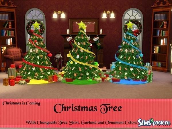 Новогодние ёлки для Sims 3