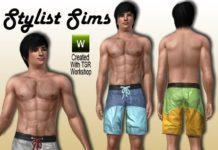 Мужские плавки от Ekky_Sims для Sims 3
