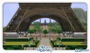 Город Париж для Sims 3