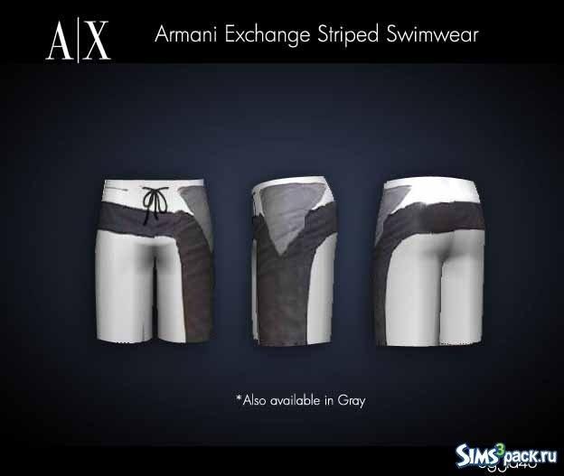 Мужские плавки от Armani для Sims 3
