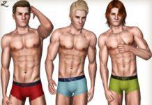 Мужские трусы от zodapop для Симс 3