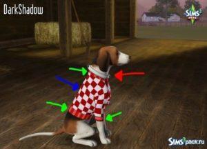 Одежда для больших и маленьких собак для Симс 3