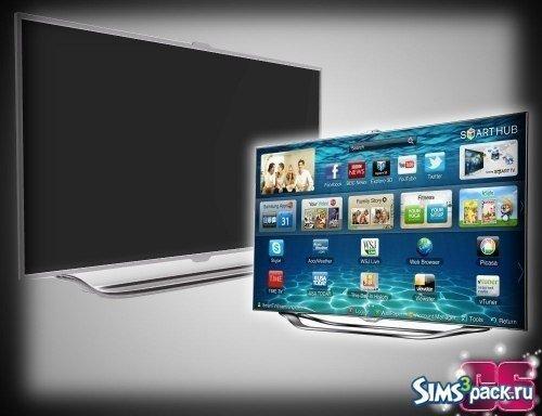 Большой ЖК телевизор для Симс 3