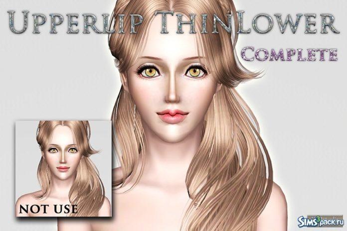 Слайдер для большей реалистичности губ для Sims 3