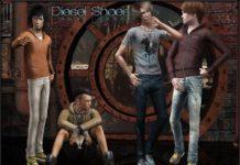 Набор мужской обуви от ShojoAngel для Sims 3