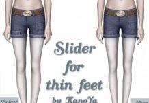 Слайдер для создания худых ног от KanoYa для Симс 3
