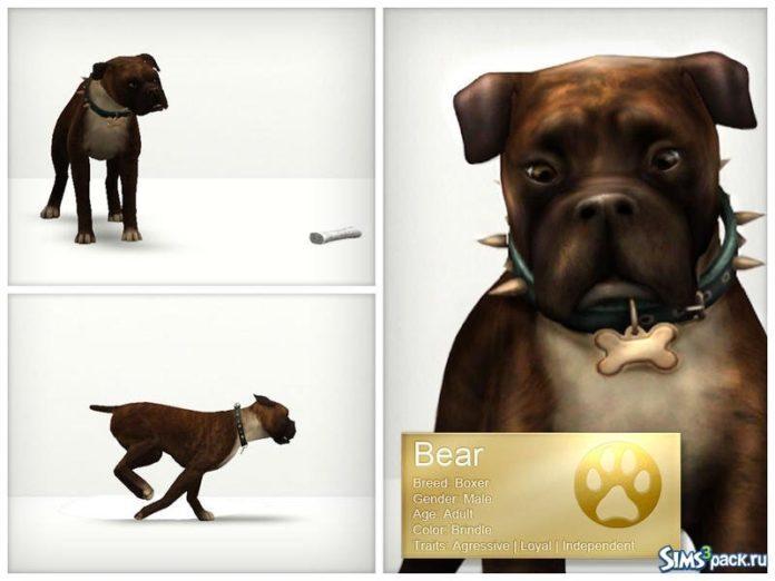 Собака Боксёр от LuckyFortune для Симс 3