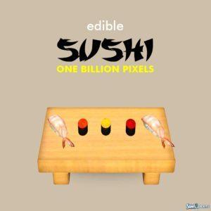 Съедобные суши от NewOne для Симс 3