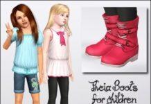 Детские сапожки от Anubis360 для Симс 3