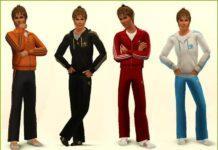Мужская одежда и обувь Adidas для Sims 3