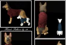 Одежда для собак от Michaela P для Sims 3