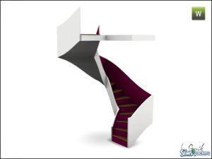 Спиральная лестница и перила от Gosik для Sims 3