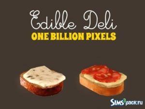 Съедобные бутерброды и декоративная еда от NewOne для Sims 3