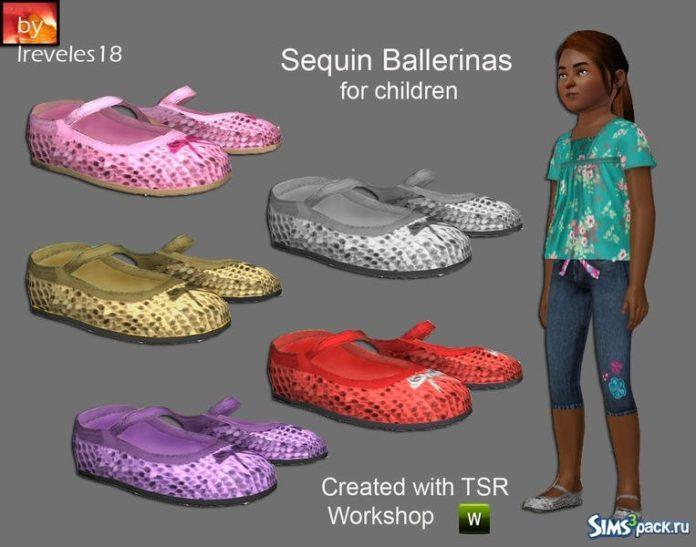 Балетки для девочек от lreveles18 для Sims 3