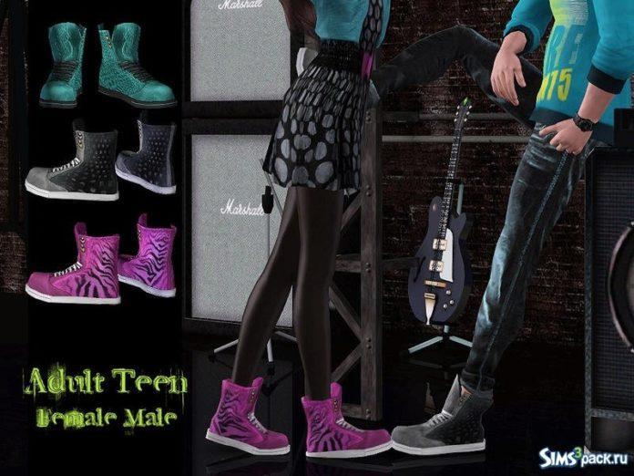 Набор обуви для обоих полов от ShojoAngel для Sims 3