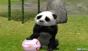 Большая и маленькая панда для Симс 3