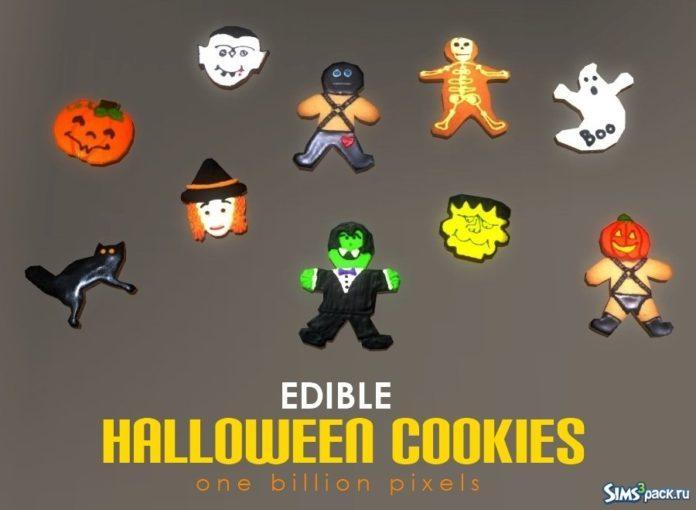 Съедобное печенье на Halloween от NewOne для Sims 3