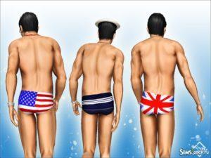 Мужские плавки от Devirose для Sims 3