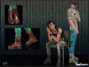 Ботинки для мужчин и женщин от ShojoAngel для Симс 3