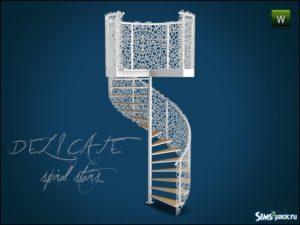 Винтовая лестница и перила от Gosik для Sims 3
