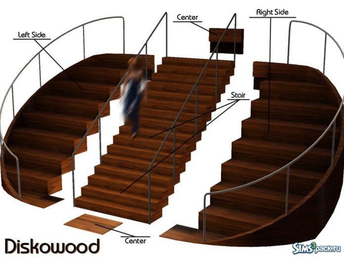 Деревянные лестницы от Kiolometro для Симс 3