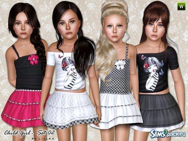 Детская одежда от Lilka для Sims 3