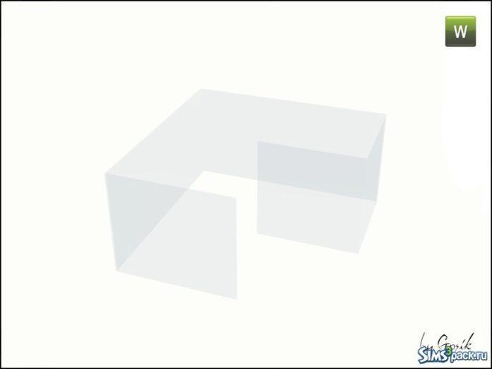 Винтовая лестница и стеклянные перила от Gosik для Sims 3