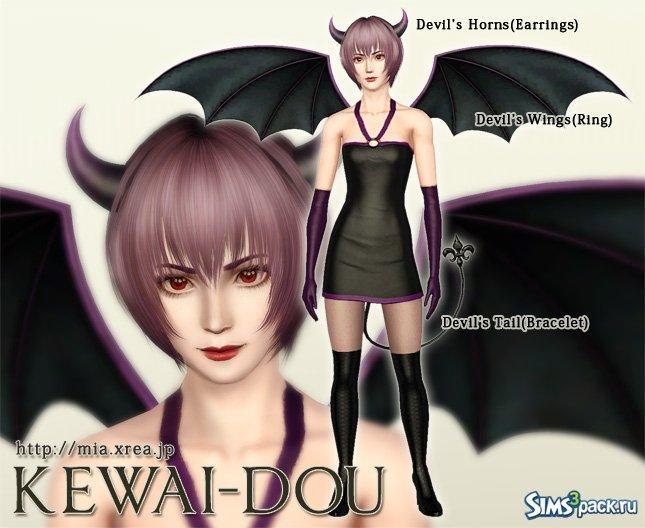 Дьявольские аксессуары от Kewai-Dou для Симс 3