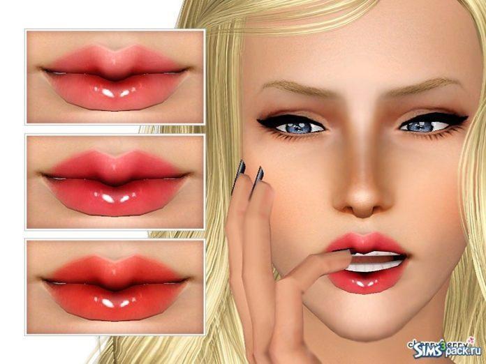 Глянцевая помада от CherryBerrySim для Sims 3