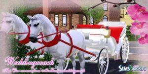Открытая карета от Eodsy для Sims 3