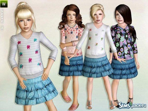 Детский костюм от Lillka для Симс 3