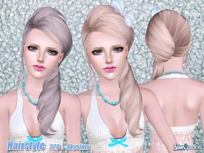 Прическа №226 для всех возрастов от Skysims для Sims 3
