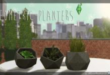 "Набор растений ""Geometric Planters"" от marcussims91 для Sims 3"