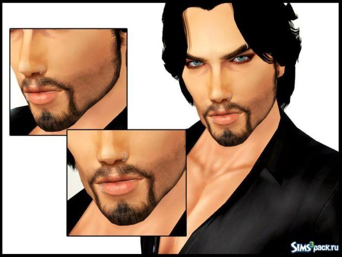 Борода и усы от Serpentrogue для Sims 3