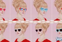 Очки-сердечки от Ruki Sims для Симс 3