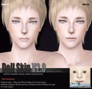 Кукольный скин от Klavix для Симс 3