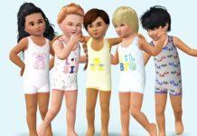 Летнее боди без рукавов от Wimmie для Sims 3