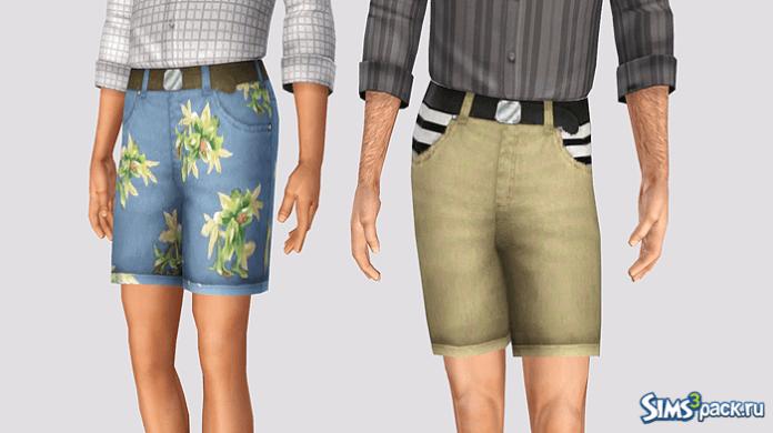 Мужские хипстерские шорты от Simt0rr для Симс 3