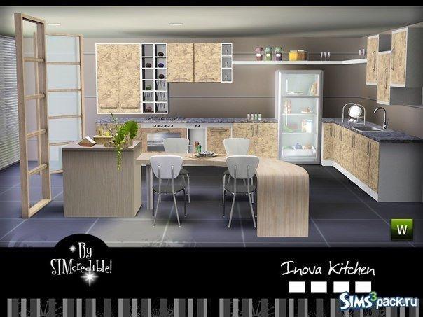 Кухня от SIMcredible! для Sims 3