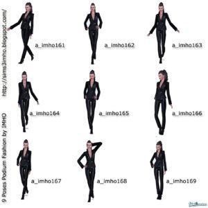 9 поз для подиума от IMHO для Sims 3