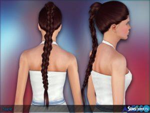 Длинная коса от Alesso для Симс 3