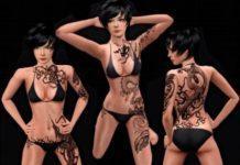 Татуировки Dragon от Lore для Симс 3