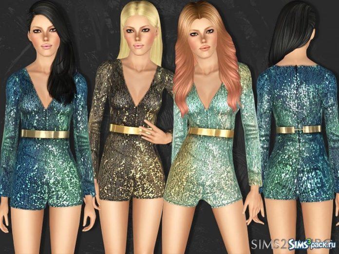 Платье с блестками от sims2fanbg для Симс 3