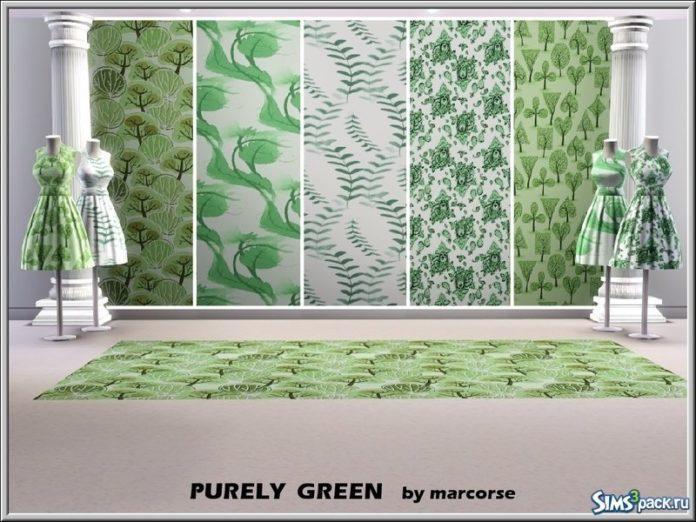 Зеленые паттерны от marcorse для Симс 3