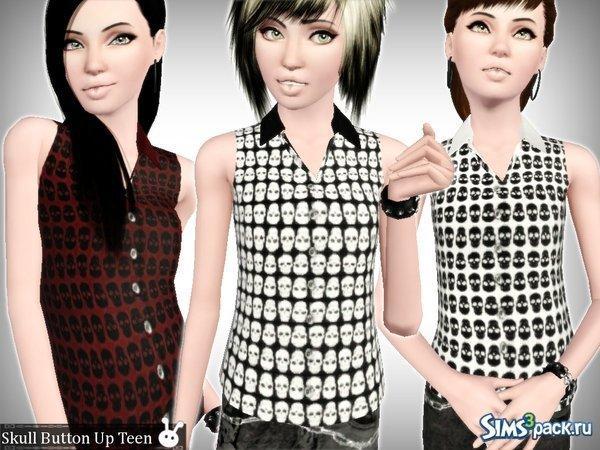Рубашка для подростков от XxNikkibooxX для Sims 3